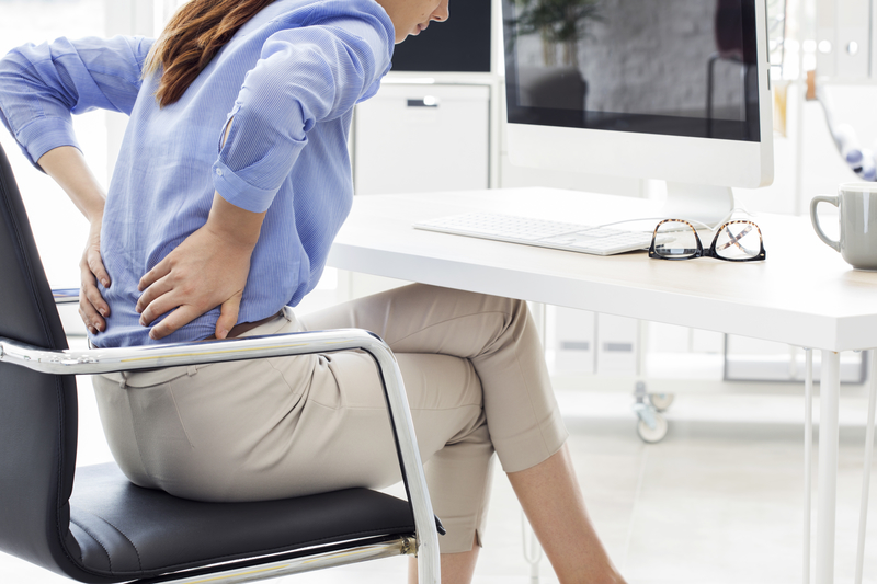 woman with pain in her lower back